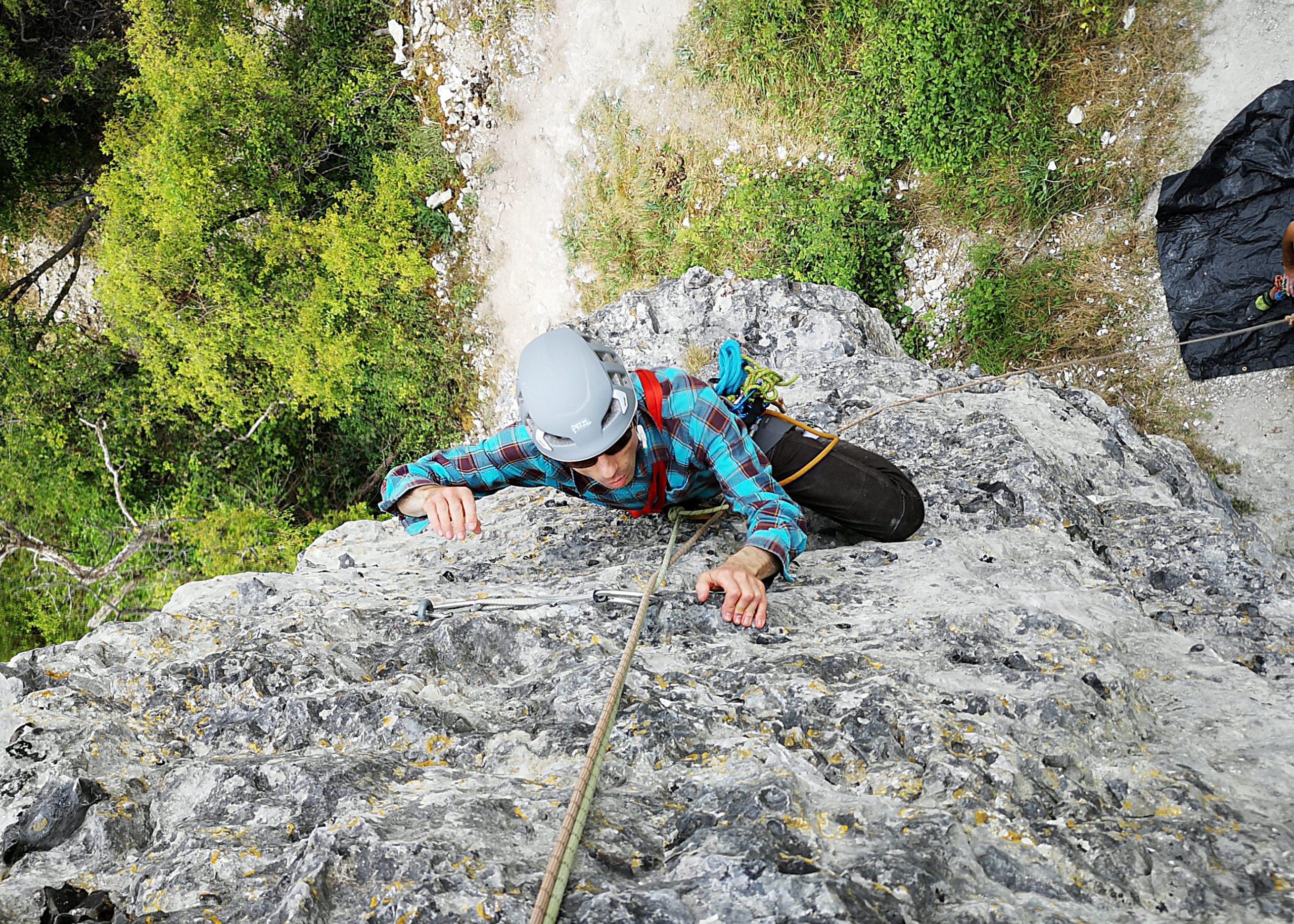 grimpe falaise